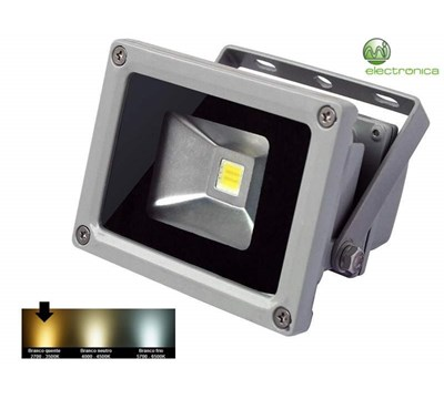 PROJECTOR LED 10W 750Lm BRANCO QUENTE