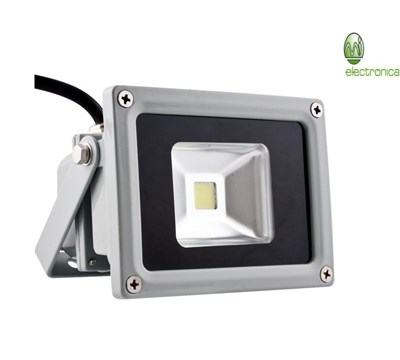 PROJECTOR LED 10W CINZENTO COLD WHITE