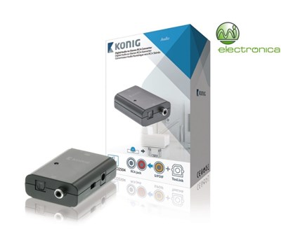 CONVERSOR AUDIO DIGITAL TOSLINK+S/PDIF A RCA STÉREO