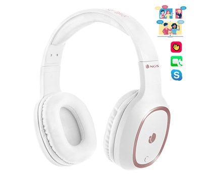 AUSCULTADORES BLUETOOTH C/ MICROFONE BRANCO NGS