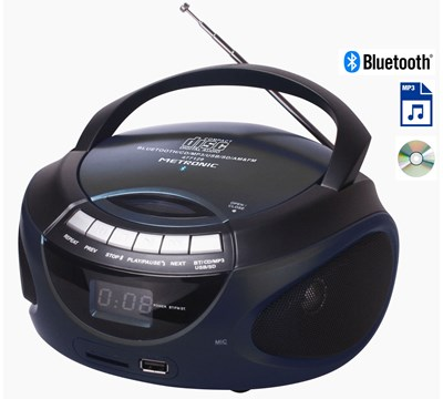 RADIO CD MP3 BLUETOOTH NEG MAT METRONIC