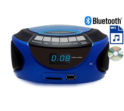 RADIO CD MP3 BLUETOOTH AZUL METRONIC
